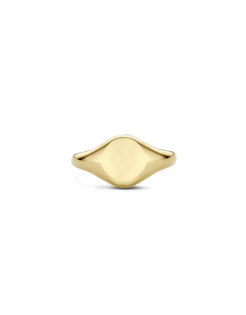 Blush Blush 1218YGO/52 zegelring dames 14k  goud vlak
