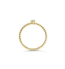 Blush Blush 1216YZI/52 ring dames 14 k goud bolletjes vorm met 1 diamant geslepen zirkonia