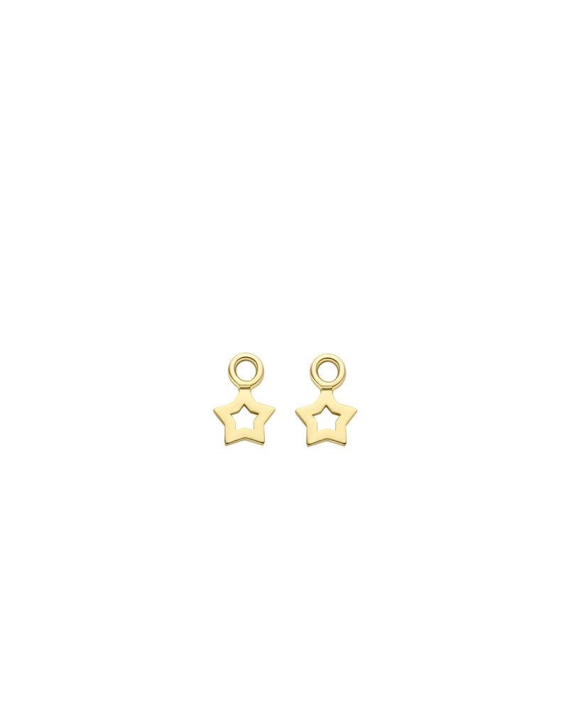 Blush Blush 9061YGO oorbedels  dames 14k goud ster (let op! exclusief creolen)