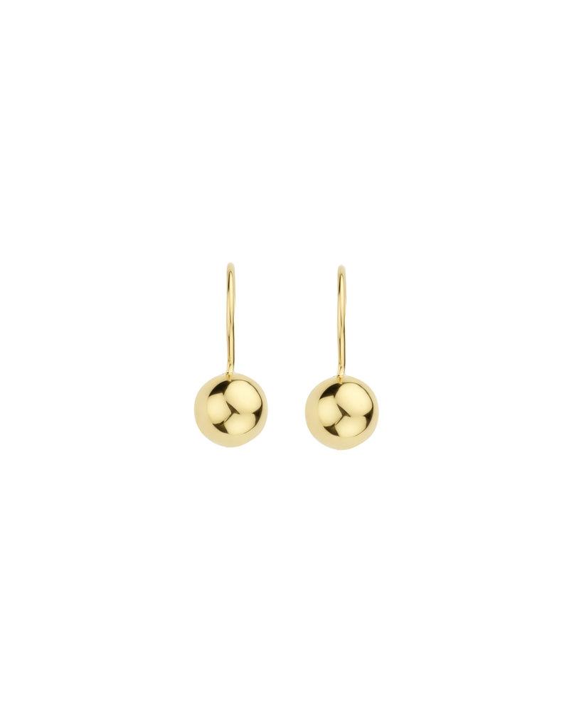 Blush Blush 7261YGO oorbellen hanger dames 14 k goud met gouden bol