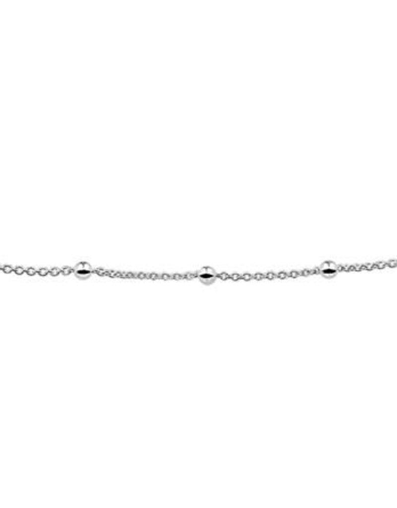 Blinckers Jewelry Huiscollectie BJ 1321690 Armband zilver jasseron en bolletjes 18 cm 3 mm dikte