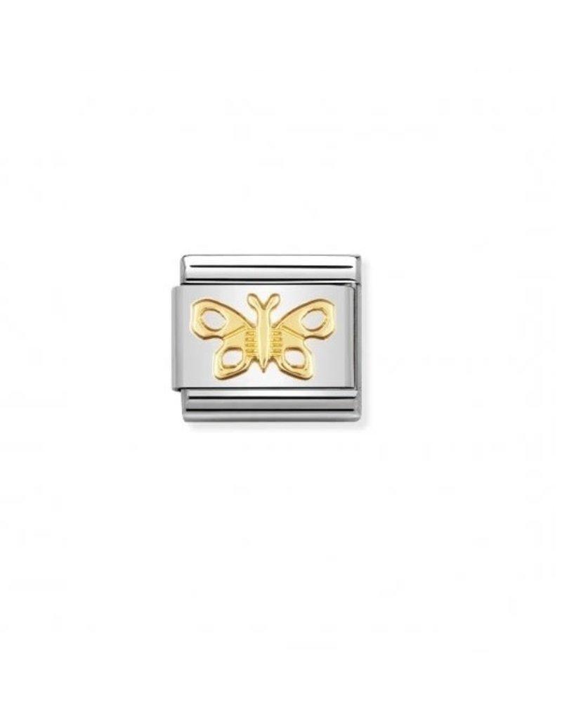 Nomination Composable Nomination 030114-02 classic goud vlinder