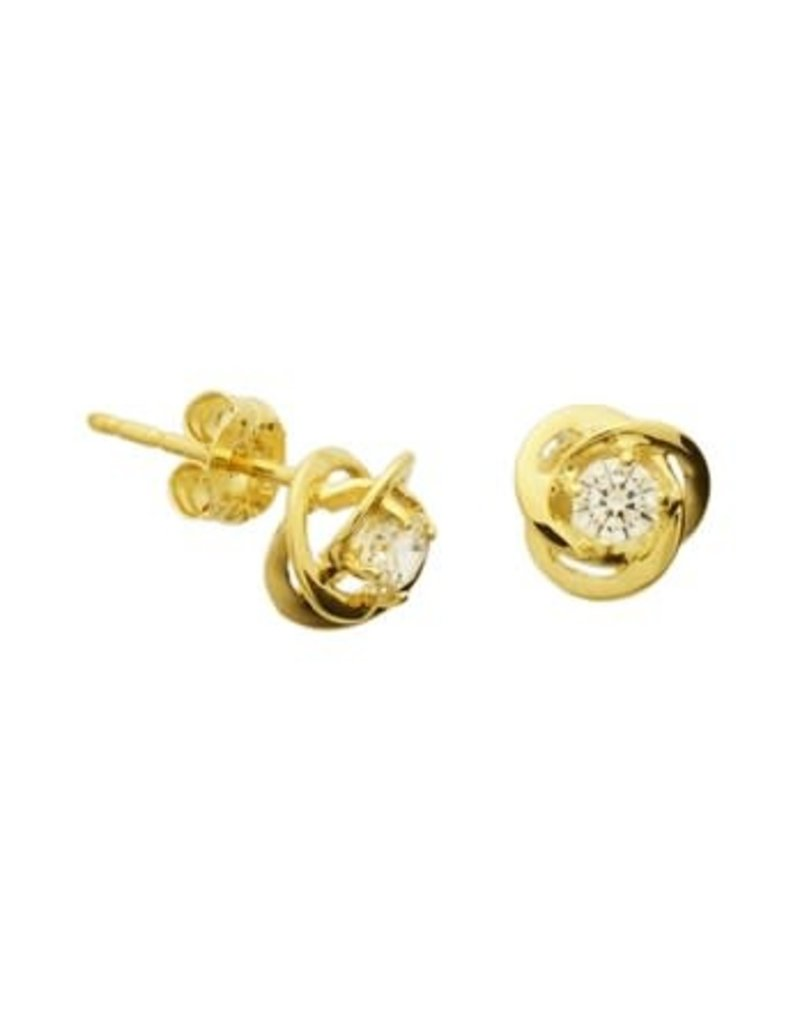 Blinckers Jewelry Huiscollectie BJ 40.18278 Oorbellen 14 Krt Goud met Zirkonia