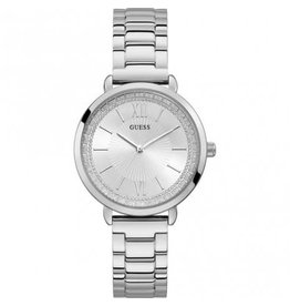 Guess Guess W1231L1 horloge dames staal met idem band en vintage wijzerplaat