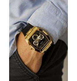 Guess Guess GW0202G1 horloge heren chronograaf double square en rubber band