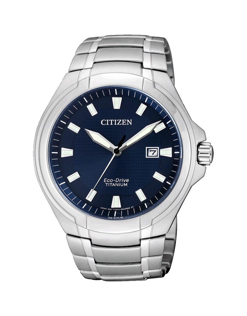 Citizen Citizen BM7430-89L horloge heren eco-drive titanium 3 hands