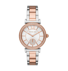 Michael Kors Michael Korse MK4616 horloge dames staal bi color rosé  met zirkonia