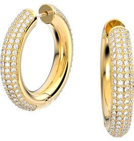 Swarovski Swarovski 5618305 oorbellen dames creool geel goud plated met swarovski kristallen