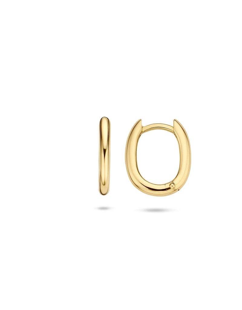 Blush 7218YGO oorbellen klap creool 14 k geel goud