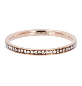 iXXXi iXXXi R02501-02 17 Ring Smal Zirkonia Crystal Rose - Maat 17.00 mm (53)