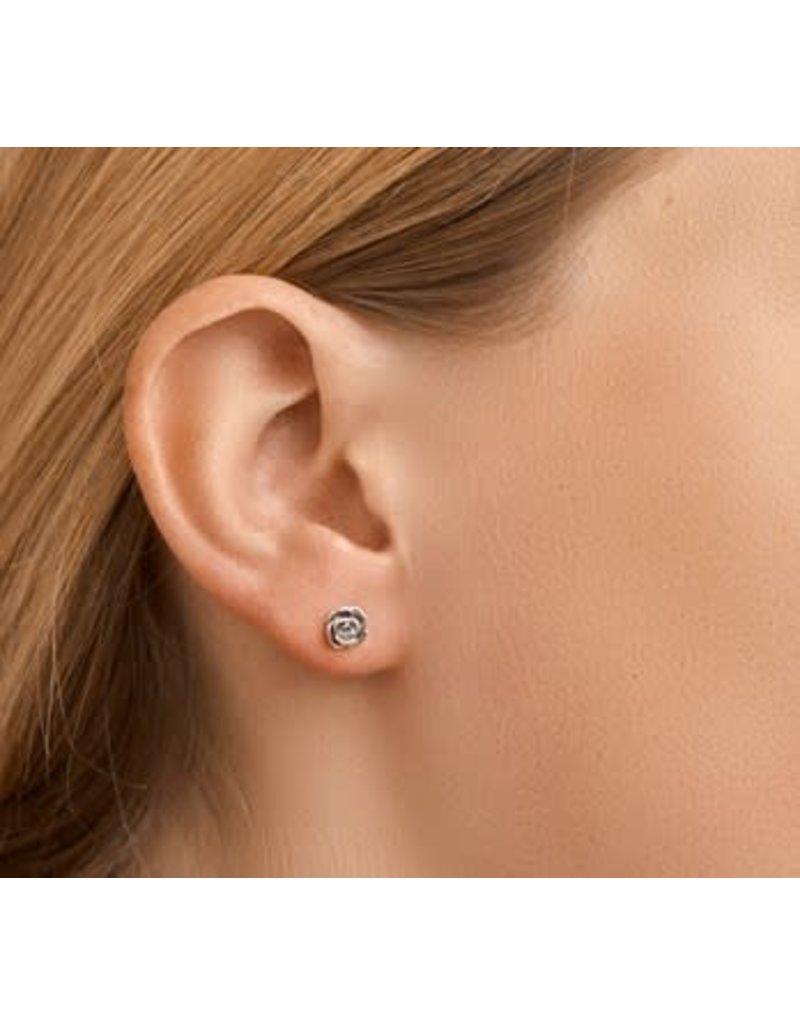 Blinckers Jewelry Huiscollectie BJ 1101536 oorstekers 925 zilver roos verouderde look (oxidized)