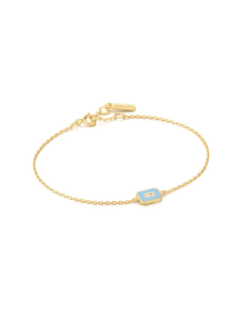 ANIA HAIE JEWELRY AH B028-02G-B Armband powder Blue gold plated