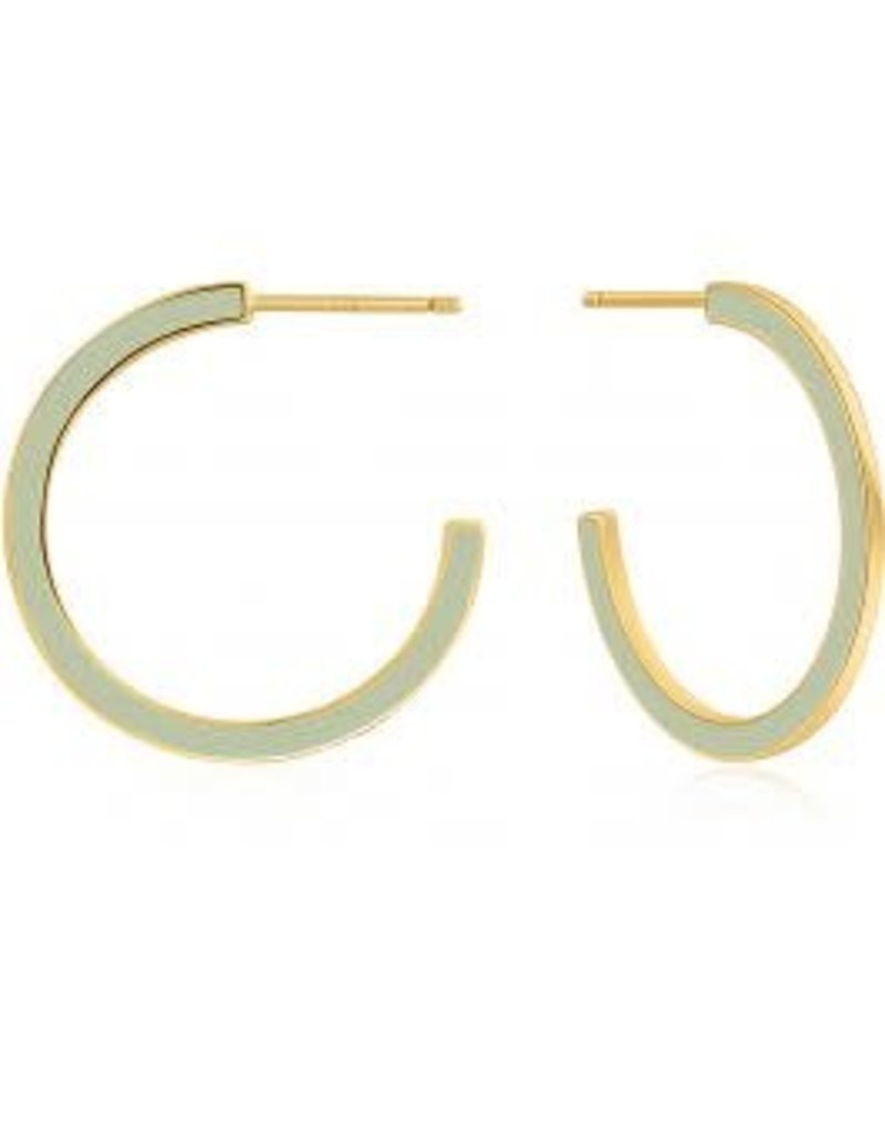 ANIA HAIE JEWELRY AH E028-06G-G Oorbellen hoops  green gold plated