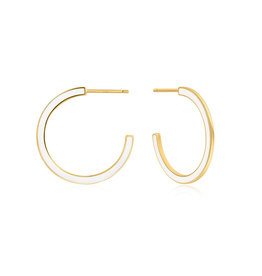 ANIA HAIE JEWELRY AH E028-06G-W Oorbellen hoops white gold plated