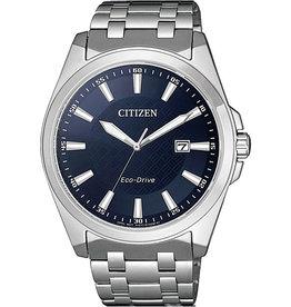 Citizen Citizen BM7108-81L  Horloge Heren Ecodrive staal donkerblauwe wijzerplaat