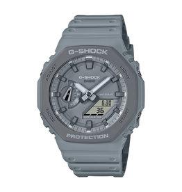 Casio Casio GA-2110ET-8AER horlogeanaloog ic.m.  digitaal G-Schock unisex grijze kunstof kast en band