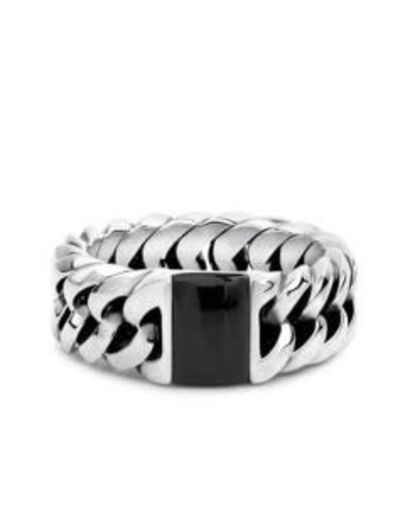 Buddha to Buddha 603ON 18 Chain Stone Ring Onyx