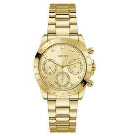 Guess Guess GW00314L2 horloge dames chrono staal goldplated met gouden wijzerplaat