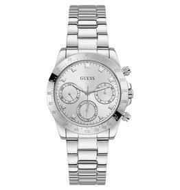 Guess Guess GW0314L1 horloge dames chrono staal met idem stalen band en wijzerplaat