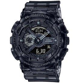 Casio G-Shock GA-110SKE-8AER horloge heren anadigi met zwart transparante kast en idem band