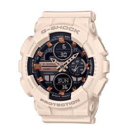 Casio G-Shock GMA-S140M-4AER horloge unisex anadigi in sand / kakhi kleur kunststof kast en band