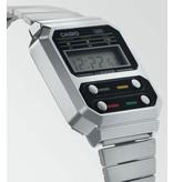 Casio Casio A100WE-1AEF horloge staal digitaal vintage