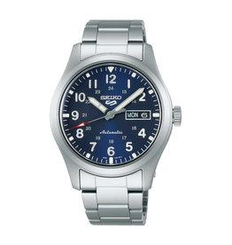 Seiko Seiko SRPG29K1 horloge heren staal seiko sports automatic met blauwe wijzerplaat en stalen band