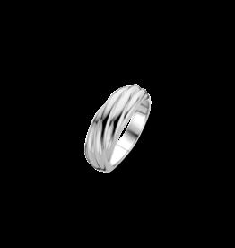 Ti Sento Milano Ti Sento 12239SI/56 ring zilver met sierlijke lijnen