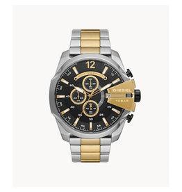 Diesel Diesel DZ4581 horloge heren chronograaf  staal bi-color zwarte wijzerplaat