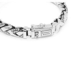 Buddha to Buddha BtB 128 E+ Armband George Texture armband in zilver maat E+