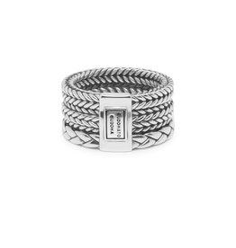 Buddha to Buddha BtB 615 17 Ring Triple Mini zilver in maat 17