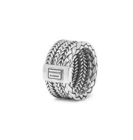Buddha to Buddha BtB 615 17,5 Ring Triple Mini zilver in maat 17,5