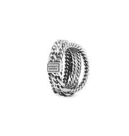 Buddha to Buddha BtB 616 16 ring Multi Chain Nathalie zilver maat 16