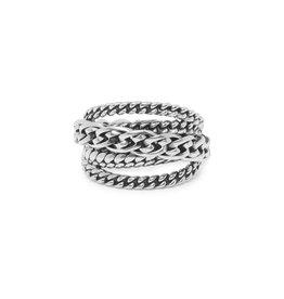 Buddha to Buddha BtB 616 18 ring Multi Chain Nathalie zilver maat 18