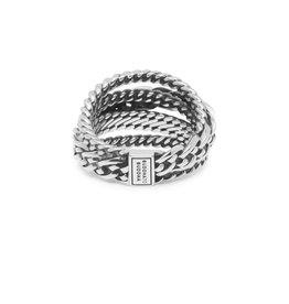 Buddha to Buddha BtB 616 17.5 ring Multi Chain Nathalie zilver maat 17.5
