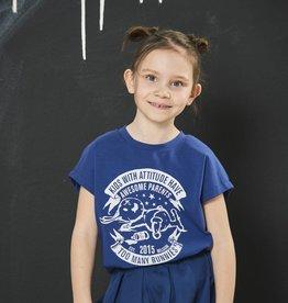 BLACK BUNNIES Shirt Dolores Blauw Bunny