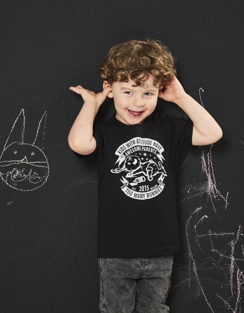 BLACK BUNNIES Black Bunnies Raw Edge Shirt Zwart Bunny