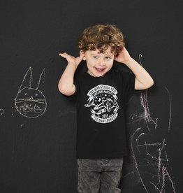 BLACK BUNNIES T-Shirt Jack Zwart Bunny Korte Mouwen