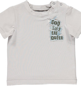 BLACK BUNNIES T-Shirt Jack Grijs God Save The Queen korte mouwen