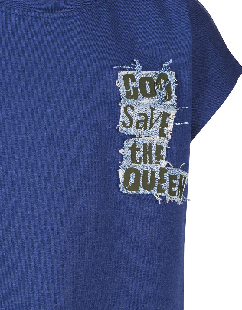 BLACK BUNNIES Shirt Dolores Blauw God Save The Queen
