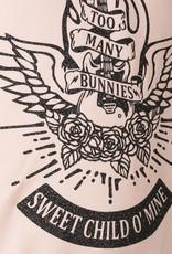 BLACK BUNNIES Shirt Dolores Roze Sweet Child Glitter
