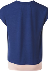 BLACK BUNNIES Black Bunnies Shirt Kate Blauw met Roze