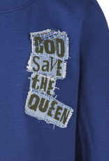 BLACK BUNNIES T-Shirt Jack (LM) Blauw God Save The Queen