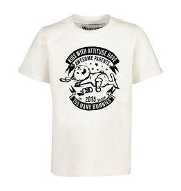 BLACK BUNNIES T-Shirt Jack Wit Bunny Lange mouwen