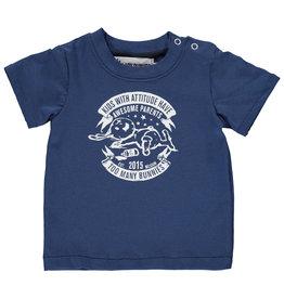 BLACK BUNNIES T-Shirt Jack Blauw Bunny Korte Mouwen