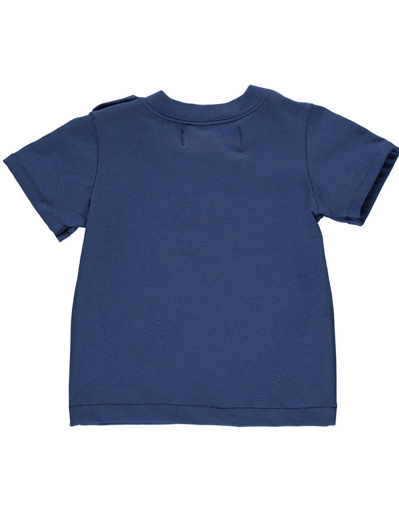 BLACK BUNNIES Black Bunnies T-Shirt Jack (KM) Blauw Bunny