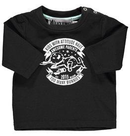 BLACK BUNNIES T-Shirt Jack Zwart Bunny Lange Mouwen