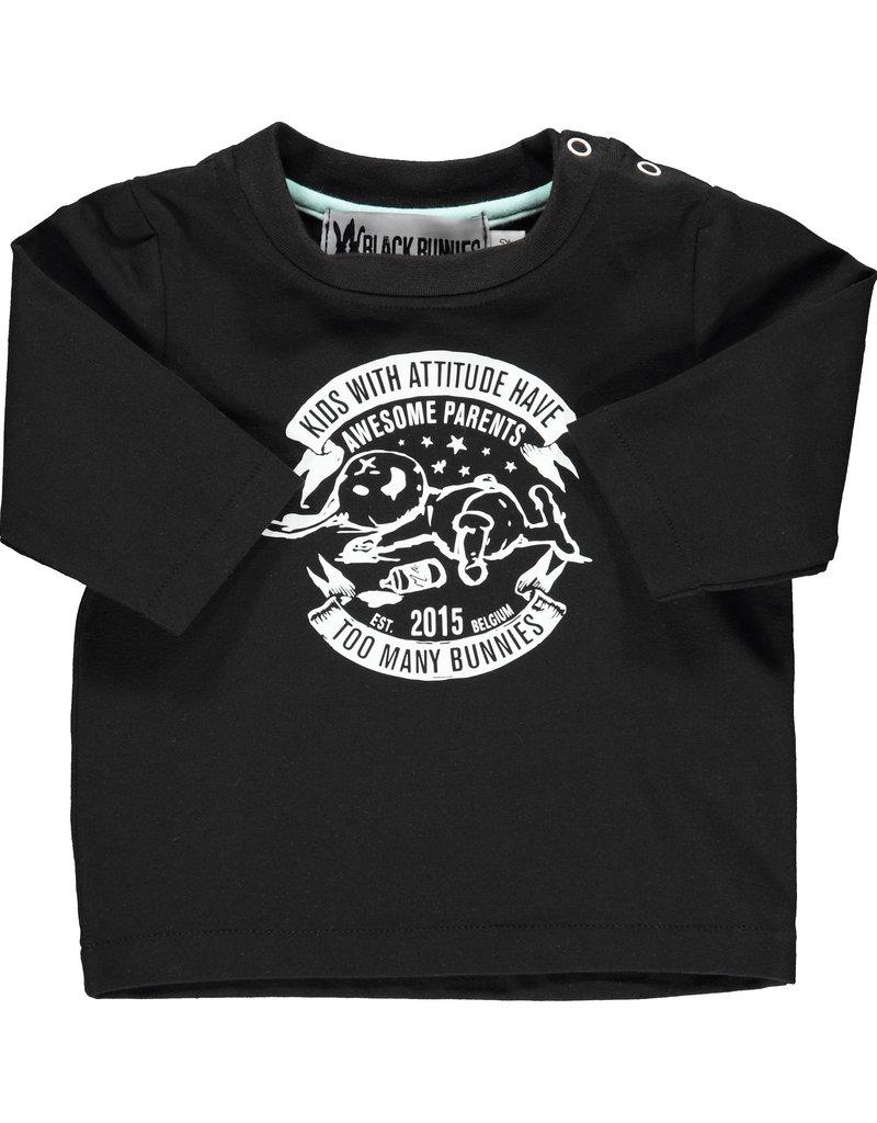 BLACK BUNNIES Black Bunnies T-Shirt Jack (LM) Zwart Bunny