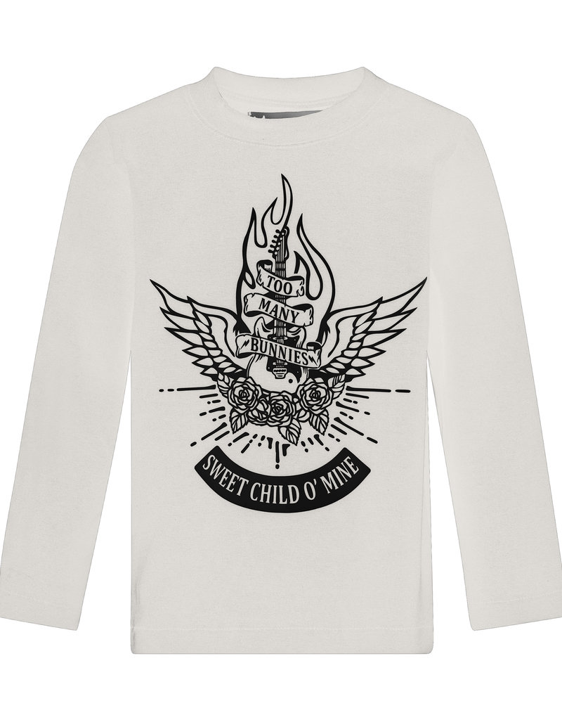 BLACK BUNNIES Black Bunnies T-Shirt Jack (LM) Wit Sweet Child
