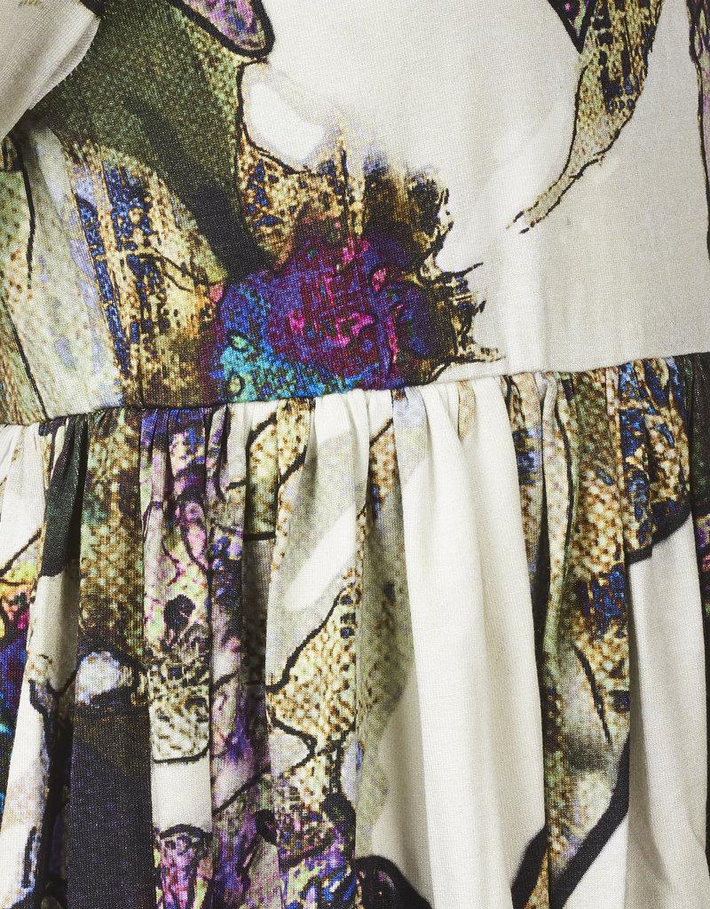 BLACK BUNNIES Jurk Alice met bloemenprint